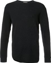 Ikiji , Waffle Long T Shirt Men Cotton Xxl, Black