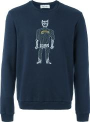 Jimi Roos , 'super' Sweatshirt Men Cotton S, Blue