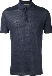 Nuur , Knitted Polo Shirt Men Linenflax 54, Blue