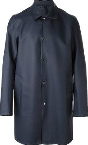 Stutterheim , 'vasastan' Raincoat Men Cottonpolyesterpvc M, Blue