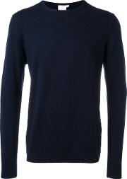 Sunspel , Round Neck Jumper Men Merino M, Blue