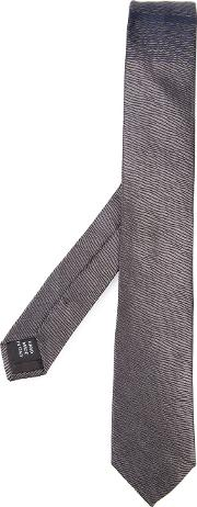 Title Of Work , Patterned Tie Unisex Silk One Size, Grey
