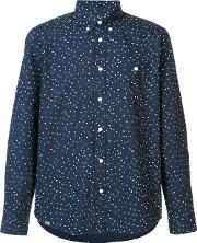 Wesc , 'orien' Shirt Men Cotton S, Blue