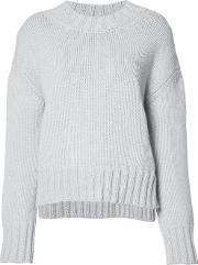 Sally Lapointe , Loose Fit Jumper Women Woolcashmere Xs, Grey