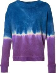 The Elder Statesman , Tie Dye Effect Jumper Unisex Cashmere L, Blue