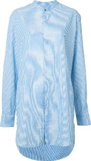 Baja East , Long Striped Shirt Women Cottonlinenflaxrayon 2
