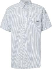 Engineered Garments , Seersucker Short Sleeve Shirt Men Cotton Xl, Blue