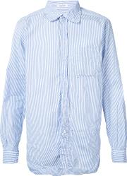 Engineered Garments , Striped Shirt Men Cotton L, Blue