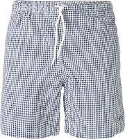 Mp Massimo Piombo , Checked Swim Shorts Men Cottonpolyester M