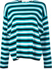 Ports , 1961 Raw Edge Striped Top Women Cottonpolyesterviscose S, Black