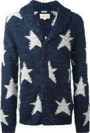 Ralph Lauren Denim & Supply , Star Intarsia Cardigan Men Acrylicwool L, Blue