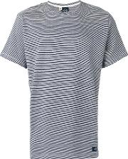 Bleu De Paname , Striped T Shirt Men Cotton L, Blue