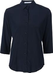 Callens , Colour Block Shirt Women Silkspandexelastane 44, Women's, Blue