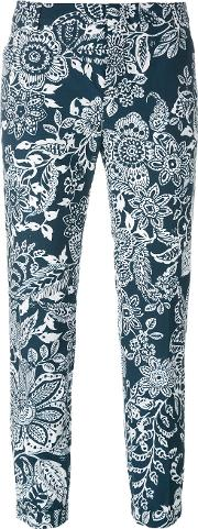 Fay , Cropped Floral Trousers Women Cotton 46