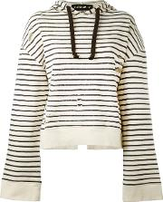 Filles A Papa , Striped Open Back Hoodie Women Cotton 1, Nudeneutrals