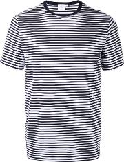 Sunspel , Striped T Shirt Men Cotton Xl, Blue