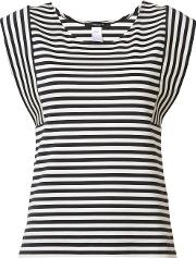 Derek Lam , Striped Sleeveless T Shirt Women Cottonspandexelastane 44, Black