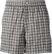 Brioni , Checked Swimming Shorts Men Cottonpolyamide Xl, Brown