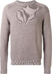 Corneliani , Ribbed Sweater Men Cotton 52, Nudeneutrals