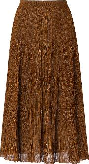 Gig , Knit Midi Skirt Women Polyesterviscose P, Women's, Brown
