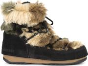 Moon Boot , We Low Fur Boots Women Artificial Furleather 5.5, Black