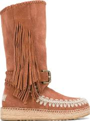 Mou , 'mueskitallsue' Boots Women Cottonraffiasuederubber 37, Women's, Brown