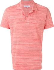 Orlebar Brown , Stylised Stripes Polo Shirt Men Cotton S, Red
