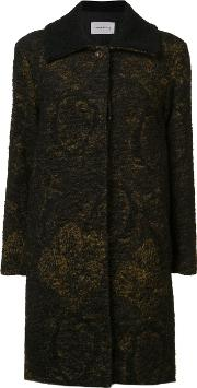 Song For The Mute , Single Breasted Coat Women Mohairalpacavirgin Wool 36, Black