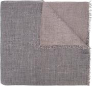 Denis Colomb , Frayed Scarf Women Cashmere One Size, Women's, Grey