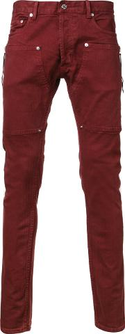 Mr Completely , Mr. Completely Super Skinny Jeans Men Cottonspandexelastane 36, Red