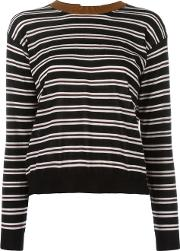 Marni , Striped Open Back Jumper Women Nyloncashmere 40, Black