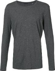 Atm Anthony Thomas Melillo , Classic Long Sleeve Top Men Cotton L, Grey