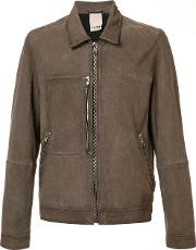 Baldwin , 'hawk' Flight Jacket Men Suede M, Brown