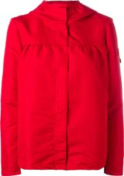 Moncler Gamme Rouge , Hooded Rain Jacket Women Silkpolyester 1, Red