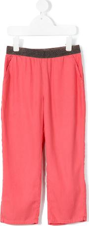 Nice Things Mini , Lurex Waist Trousers Kids Tencel 4 Yrs, Red