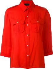 Vanessa Seward , Military Shirt Women Viscose 40, Red