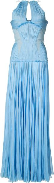 J Mendel , J. Mendel Pleated Gown Women Silk 0, Blue