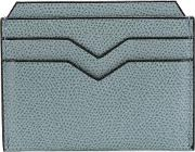 Valextra , Textured Cardholder Men Calf Leather One Size, Blue