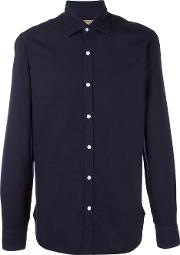 Barba , Classic Shirt Men Cotton 39, Blue