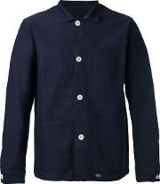 Bleu De Paname , Shirt Jacket Men Cotton L, Blue
