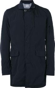 Cp Company , Buttoned Pocket Coat Men Polyamidespandexelastane 54, Blue