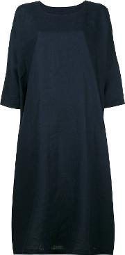 Daniela Gregis , Oversized T Shirt Dress Women Linenflax 1, Blue