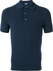 Drumohr , Polo Shirt Men Cottonpolyamide 46, Blue