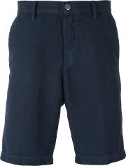 Massimo Alba , 'vela' Shorts Men Cottonlinenflax 50, Blue
