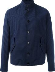 Mp Massimo Piombo , Checkered Barracuda Jacket Men Cottonelastodiene 50, Blue