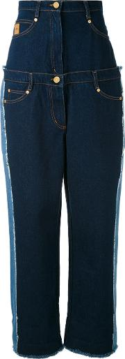 Natasha Zinko , Multi Patterned High Rise Jeans Women Cotton 34, Blue