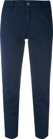 Peuterey , Casual Cropped Trousers Women Cottonspandexelastane 40, Blue