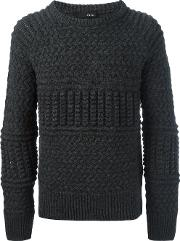 Avelon , 'page' Sweater Men Acrylicalpacamerino L, Grey