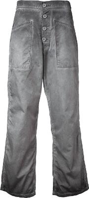 Rta , Cropped Flared Jeans Women Cotton 28, Grey