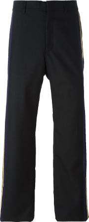 Ports , 1961 Stripe Side Loose Fit Trousers Men Silkcottonpolyamidevirgin Wool 50, Black